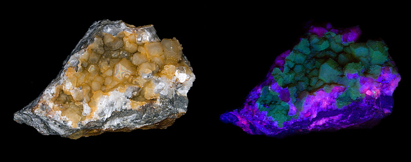 Calcite, Quartz (var. Chalcedony)