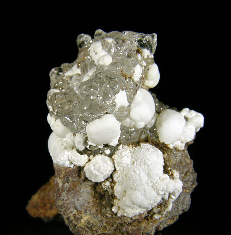 Opal (var. Hyalite), Fluorapatite