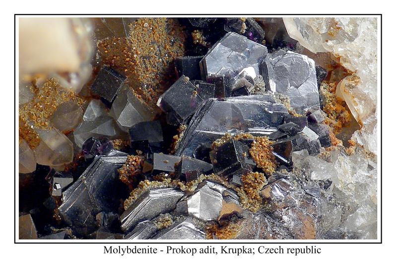 Molybdenite, Fluorite