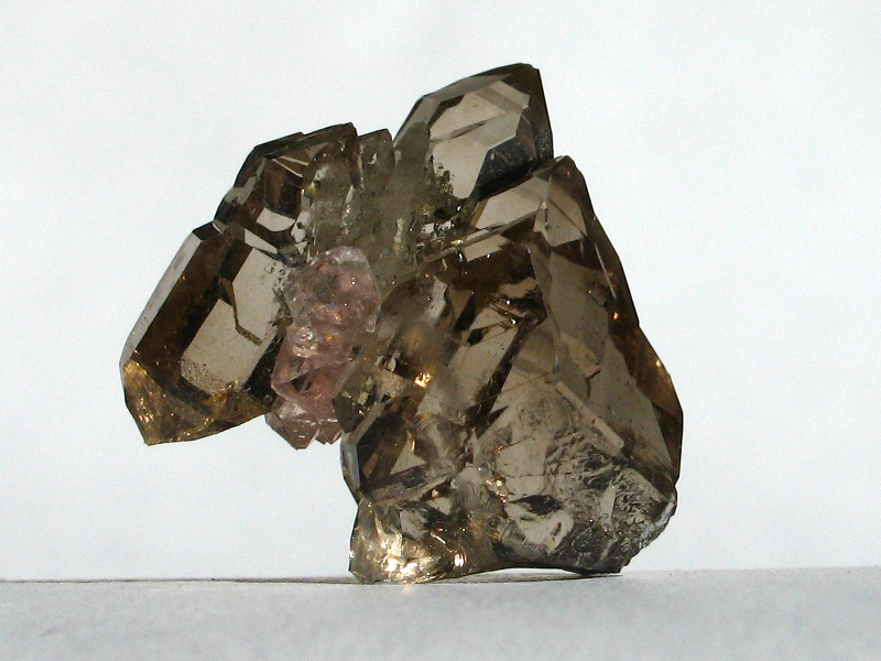 Quartz (var. Smoky), Fluorite