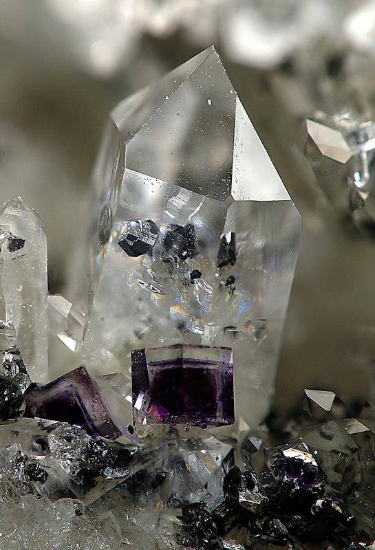 Quartz, Wolframite, Fluorite