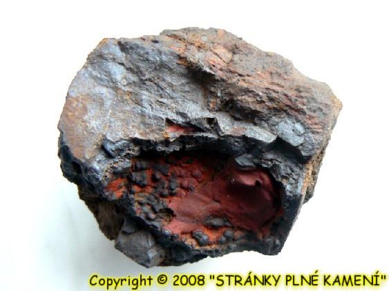 Siderite (var. Oligonite), Hematite