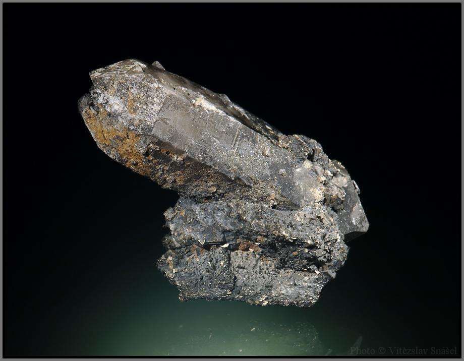 Quartz (var. Smoky), Pyrite
