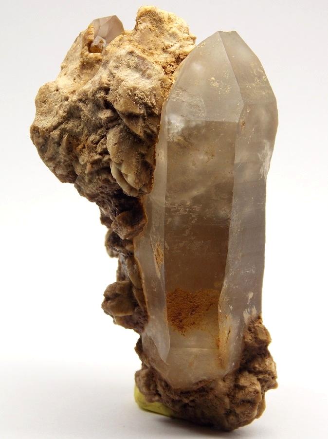 Quartz (var. Rock Crystal), Albite
